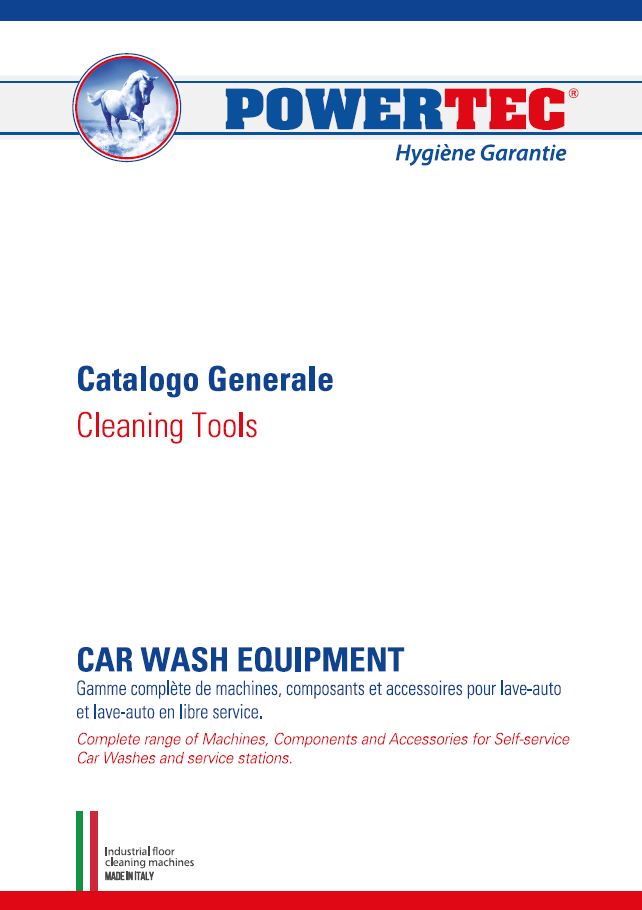 CATALOGO CARWASH EQUIPMENT Powertec 2020